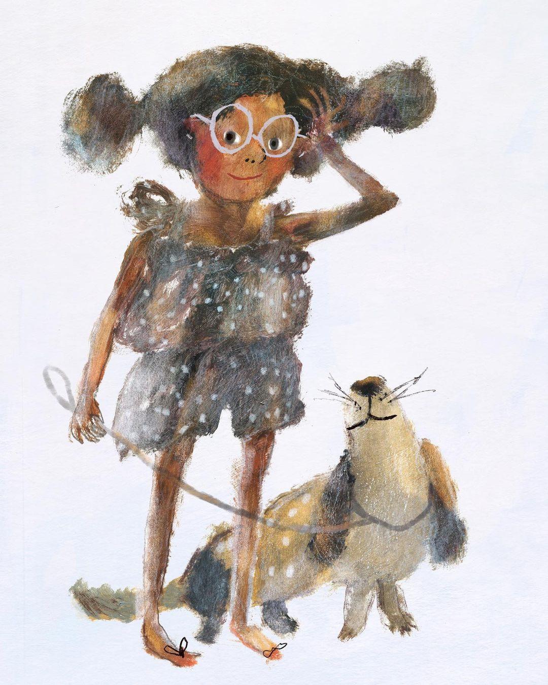 Girl and her loyal companion