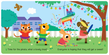 Giraffe and Friends -  At a Party
