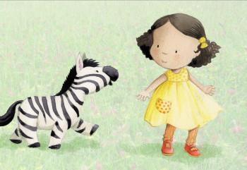 girl and zebra