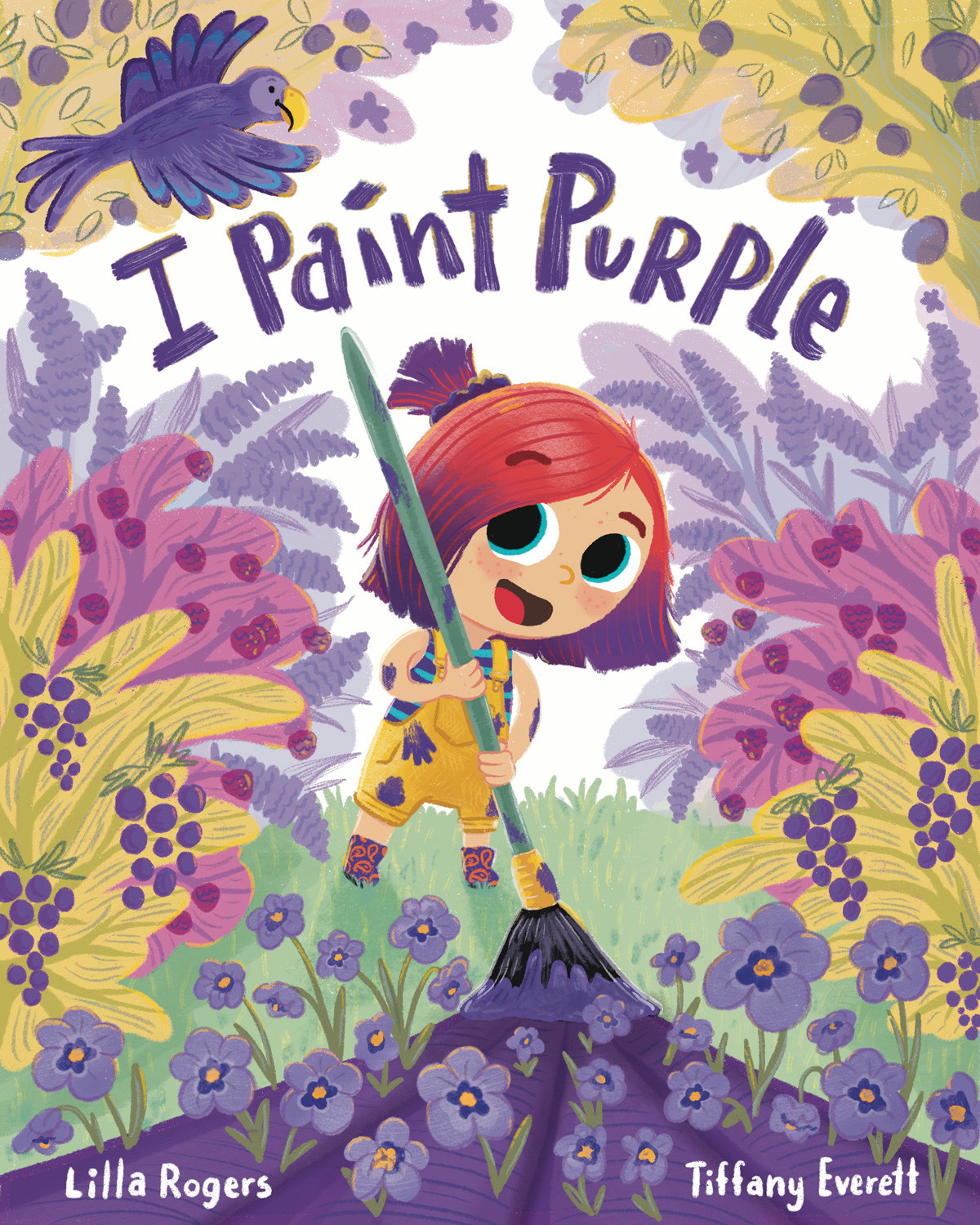 Cover for book about a girl who loves the color purple