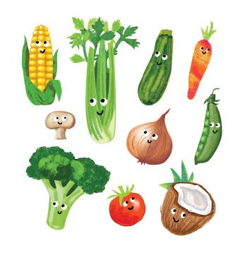 Happy Vegetables