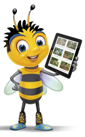 Bizzi Bee character created for Hozelock.