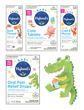Hyland's Packaging Characters