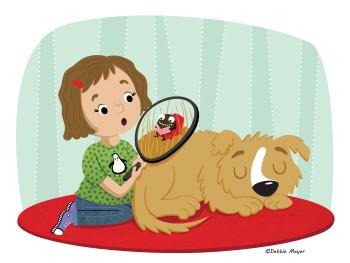 Dog and Literary Flea