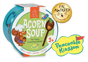 Acorn soup game, the tasty counting game! // Peaceable Kingdom // USA // WINNER Gold Label Pal Award,Playonwords 2018 USA