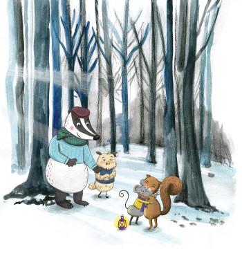 Squirrelled Away Forest Scene