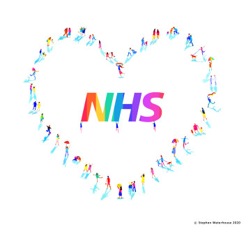 'Protect the NHS by Social Distancing and Save Lives'