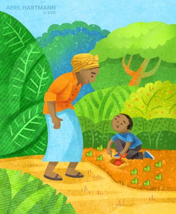 Boy with Grandma