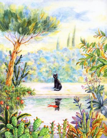 'Cat in the Garden'
