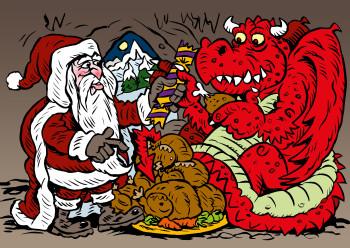Dragons Christmas Feast