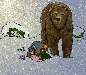 A hungry bear