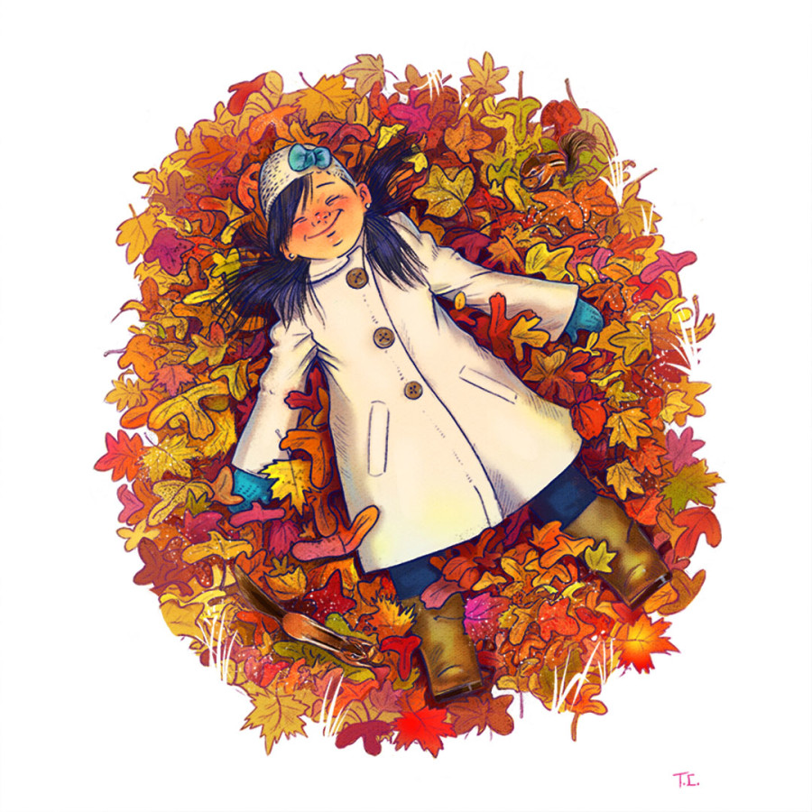 Enjoy the Fall Foliage with These Autumn Illustrations!