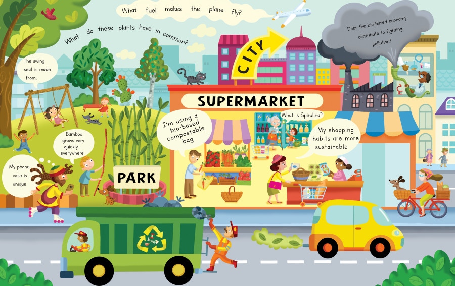 What's Bioeconomy ? The First flap book about bioeconomy for kids // Alistar Illustration & BIOVOICES European project