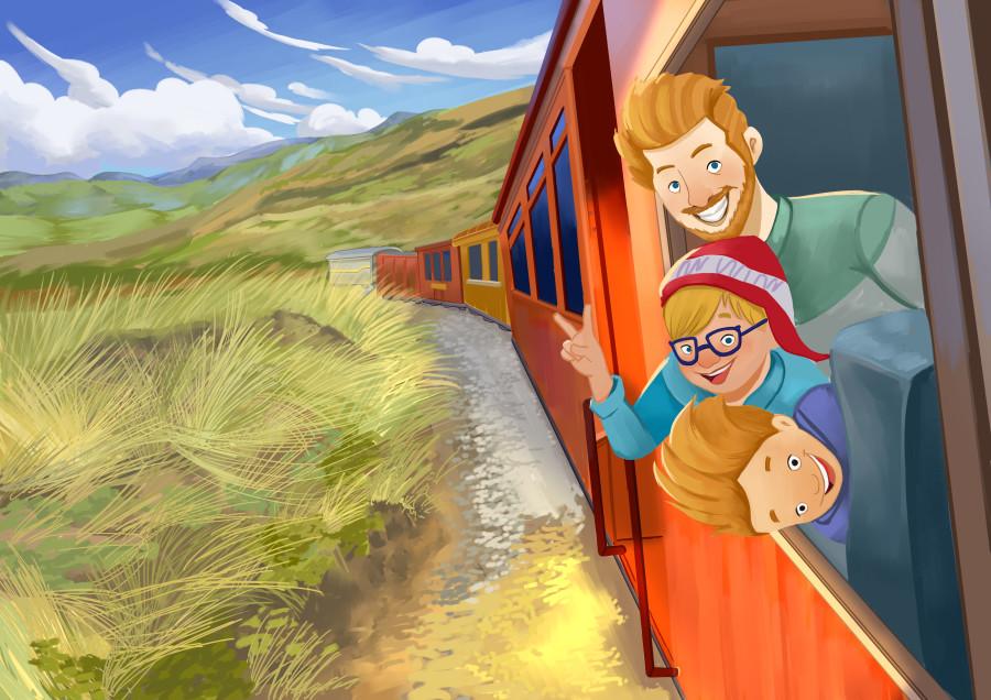 Mercado de Otavalo Childrens book illustration