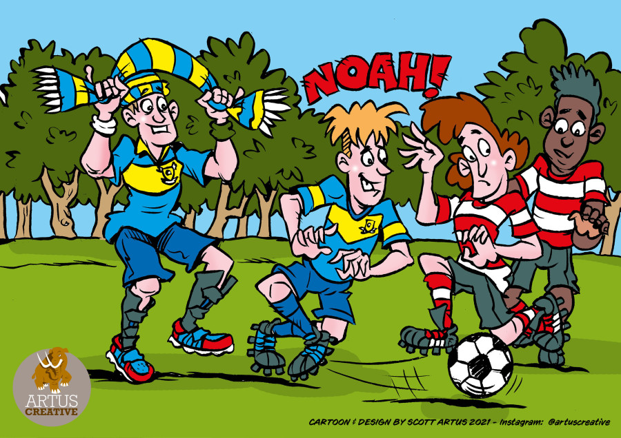 The Football Trials! New book illustrated by Scott Artus