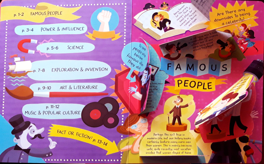 Famous People  // One more title OUT NOW ! from the series : My Big Book of Answers - The Most Fun, Fact-Filled Flap Book in the World ! Alistar Illustration & YOYO Books