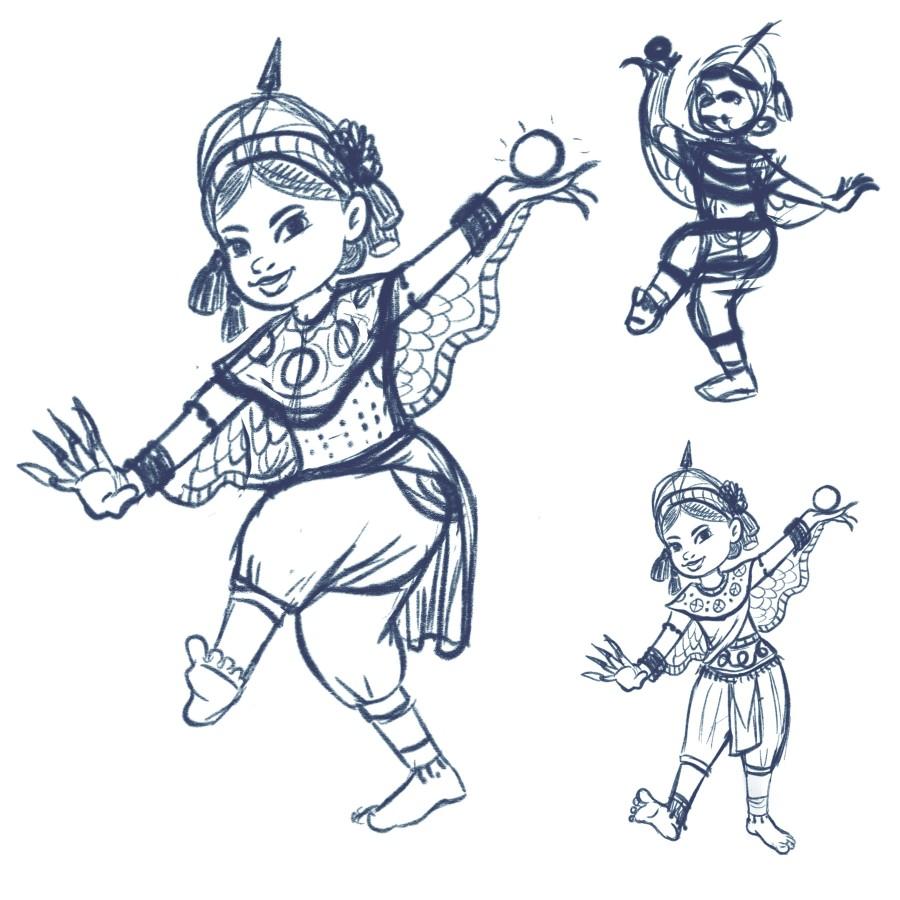Cute Thai Dancer Character