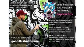 New illustrator - Captain Kris!