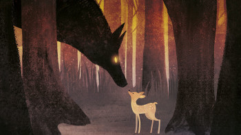 Wolf & fawn