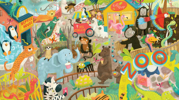 At the Zoo: personalized jigsaw puzzle for UK producer of stationery and gift items, Bookblock