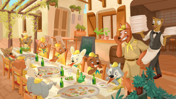 Summer outing - a childrens book illustration