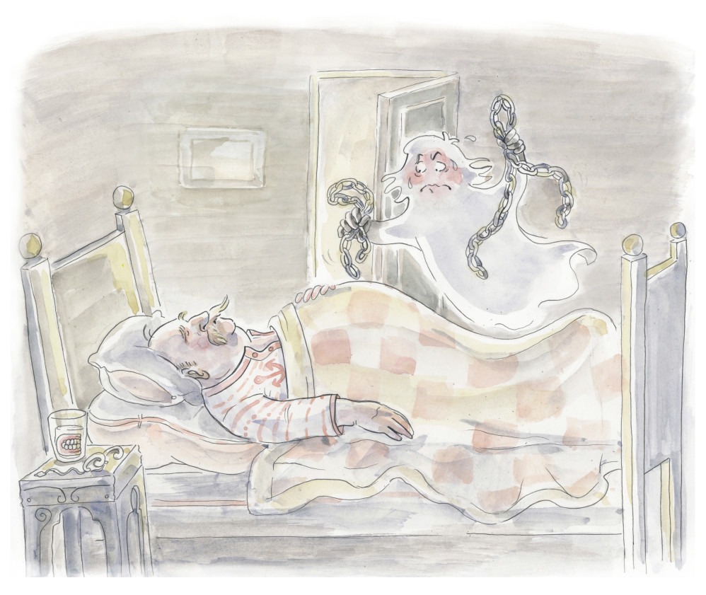 """These are the illustration for the ghosts tale """"Spensa"""""""